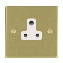 Hamilton Hartland Satin Brass 1 Gang 5A Unswitched Socket with White Insert