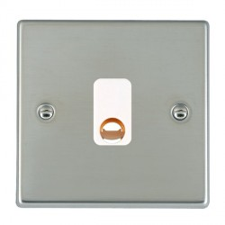 Hamilton Hartland Bright Steel 20A Cable Outlet with White Insert