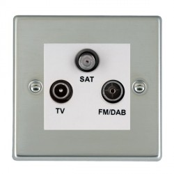 Hamilton Hartland Bright Steel TV+FM+SAT (DAB Compatible) with White Insert