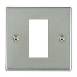 Hamilton Hartland EuroFix Plates Bright Steel Single Plate c/w 1 EuroFix Apertures + Grid