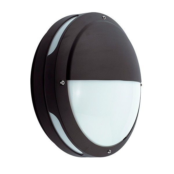 Ansell External Wall Lights : Ansell Tardo CFL Black Wall Light with Emergency Battery Backup at UK Electrical Supplies.