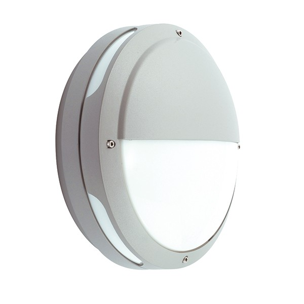 Wall Lights With Emergency : Ansell Tardo CLF Silver Grey Wall Light with Emergency Battery Backup at UK Electrical Supplies.
