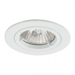 Ansell Twistlock 50W Fixed GU10 Matt White Die-Cast Downlight