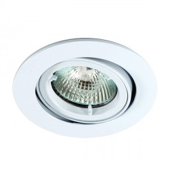 Ansell Twistlock 50W Gimbal GU10 Matt White Die-Cast Downlight
