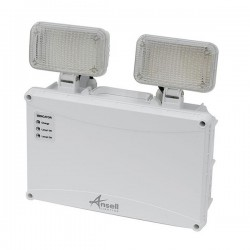 Ansell Owl White 5W IP65 Non-Maintained LED Twin Spot