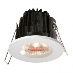 Knightsbridge FireKnight 7W Warm White Dimmable Fixed LED Downlight