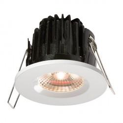 Knightsbridge FireKnight 7W Warm White Dimmable Fixed LED Downlight