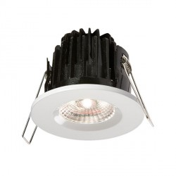 Knightsbridge FireKnight 7W Cool White Dimmable Fixed LED Downlight