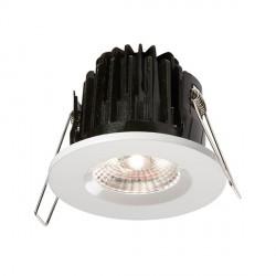 Knightsbridge FireKnight 7W Cool White Dimmable Fixed LED Downlight