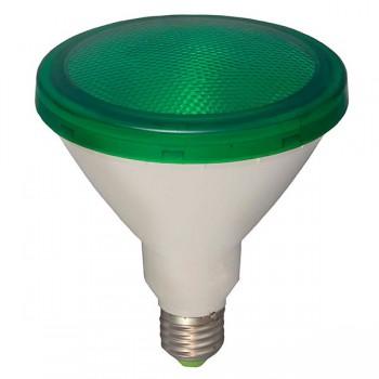 Bell Lighting 15W Non-Dimmable E27 Green Coloured PAR38 LED