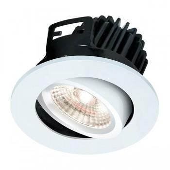 Knightsbridge FireKnight 7W Cool White Dimmable Tilt LED Downlight with White Bezel