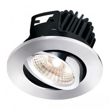 Knightsbridge FireKnight 7W Cool White Dimmable Tilt LED Downlight with Chrome Bezel