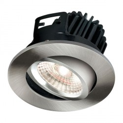 Knightsbridge FireKnight 7W Cool White Dimmable Tilt LED Downlight with Brushed Chrome Bezel