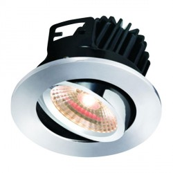 Knightsbridge FireKnight 7W Warm White Dimmable Tilt LED Downlight with Chrome Bezel