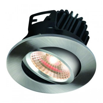 Knightsbridge FireKnight 7W Warm White Dimmable Tilt LED Downlight with Brushed Chrome Bezel
