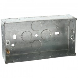Knightsbridge Galvanised Steel 3-4 Gang 35mm Back Box