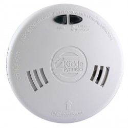 Kidde Slick 1SFWR Ionisation Smoke Alarm with Wireless Capability and Rechargeable Lithium Cell