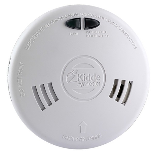 kidde slick 2sfwr optical smoke alarm with wireless capability and rechargeab. Black Bedroom Furniture Sets. Home Design Ideas