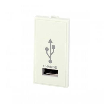 Selectric MOD-USB-1 1 Gang USB Charger Module in White