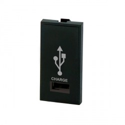 Selectric MOD-USB-2 1 Gang USB Charger Module in Black