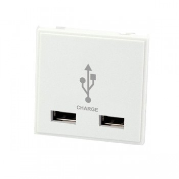 Selectric MOD-USB-3 2 Gang USB Charger Module in White