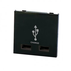 Selectric MOD-USB-4 2 Gang USB Charger Module in Black