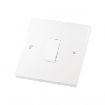 Selectric Square LG201 1 Gang 1 Way 10A Switch