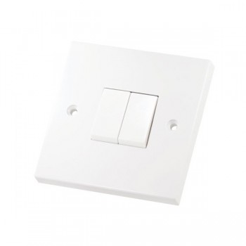 Selectric Square LG202-1 2 Gang 1 Way 10A Switch