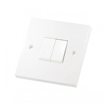 Selectric Square LG202 2 Gang 2 Way 10A Switch