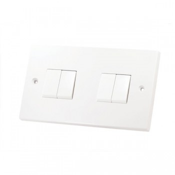 Selectric Square LG204 4 Gang 2 Way 10A Switch