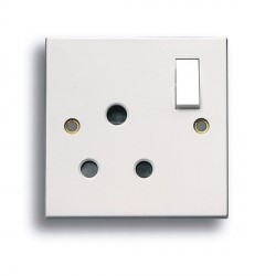Selectric Square LG9090 15A 3 Pin Round Pin Switched Socket