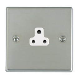 Hamilton Hartland Bright Steel 1 Gang 2A Unswitched Socket with White Insert