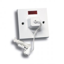 Selectric Square LG954N 45A Double Pole 1 Way Ceiling Pull Switch with Neon