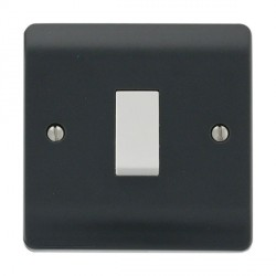 Click Part M Anthracite Grey 10AX 1 Gang 2 Way Plate Switch