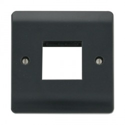 Click Part M Anthracite Grey Single Plate Twin Aperture Module Plate