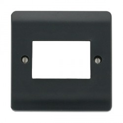 Click Part M Anthracite Grey Single Plate Triple Aperture Module Plate