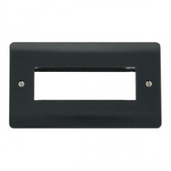 Click Part M Anthracite Grey Double Plate 6 In-Line Aperture Module Plate