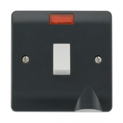 Click Part M Anthracite Grey 20A DP Switch with Neon