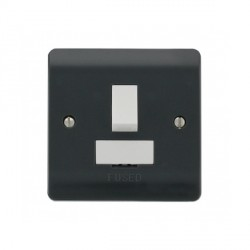 Click Part M Anthracite Grey 13A DP Switched Fused Connection Unit
