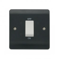 Click Part M Anthracite Grey 45A DP Switch