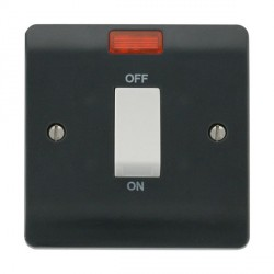 Click Part M Anthracite Grey 45A DP Switch with Neon