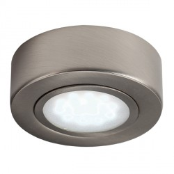 Knightsbridge Round Brushed Chrome LED Under Cabinet Light