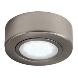 Knightsbridge Round Brushed Chrome LED Under Cabinet Light