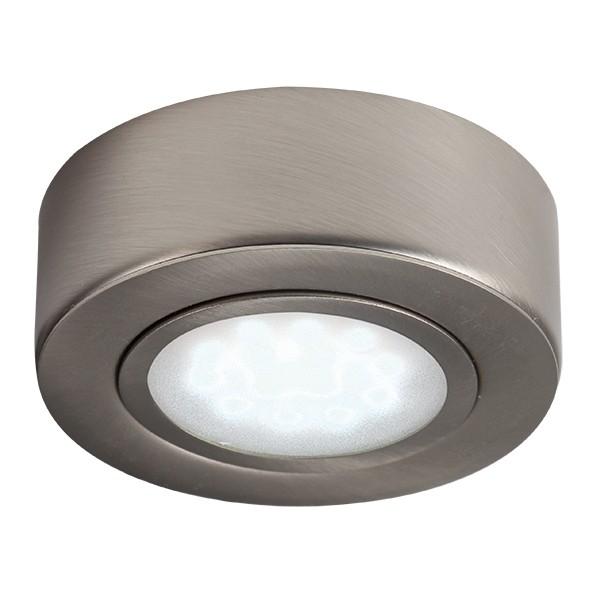 hot sales e0218 345c5 Knightsbridge Round Brushed Chrome LED Under Cabinet Light