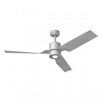 Fantasia Tau 50 inch Remote Control Matt Silver Low Energy Ceiling Fan with Matt Silver Blades and LED Light