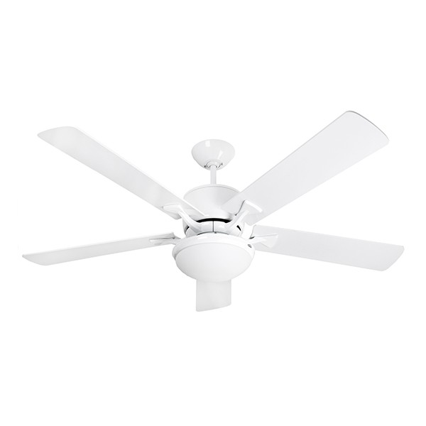 Fantasia Delta 52 Inch Remote Control White Low Energy Ceiling Fan