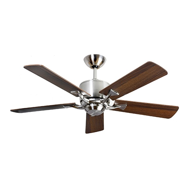 Fantasia Delta 52 Inch Remote Control Brushed Nickel Low Energy Ceiling Fan With Dark Oak Maple