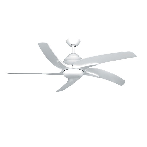 Fantasia Viper Plus 44 Inch Remote Reverse White Ceiling Fan With Gloss Blades And Light