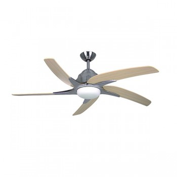 Fantasia Viper Plus 54 inch Remote Reverse Stainless Steel Ceiling Fan with Maple Blades and LED Light