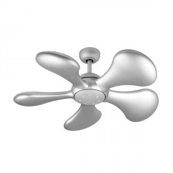 Fantasia Splash 36 inch Remote Control Matt Silver Ceiling Fan with Matt Silver Blades and LED Light